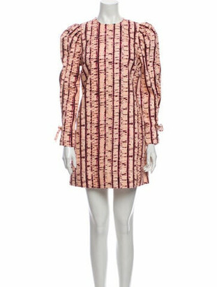 Ulla Johnson Printed Mini Dress w/ Tags Pink