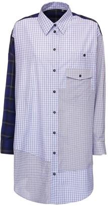 McQ Genesis Ii Patchwork Cotton Shirt Dress