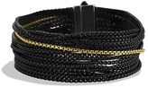 David Yurman Sixteen-Row Chain Bracelet with Gold