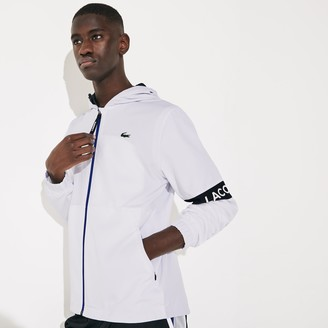 Lacoste Men's SPORT Water-Resistant Hooded Zip-Up Jacket