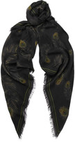 Alexander Mcqueen - Fringed Printed Modal And Silk-blend Scarf