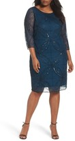 Pisarro Nights Plus Size Women's Embellished Sheath Dress