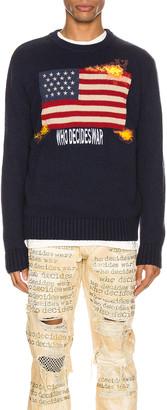 Who Decides War by Ev Bravado Who Decides War Knit Pullover in Navy | FWRD