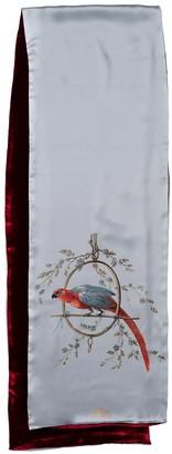 Castlebird Rose Le Perroquet Scarf Light Blue & Bordeaux Red