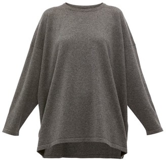 eskandar Boat-neck Cashmere Sweater - Womens - Dark Grey