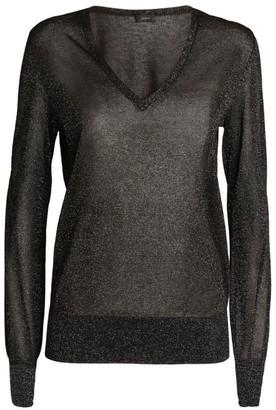 Joseph Lurex V-Neck Sweater
