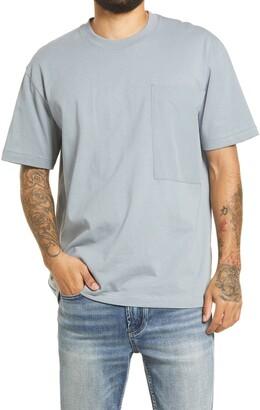 Topman Men's Mixed Media Cotton Pocket T-Shirt