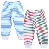 Monvecle Unisex Baby 2 Pack Newborn to Toddler Cotton Long Pants 24M