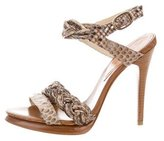 Alexandre Birman Python Multistrap Sandals