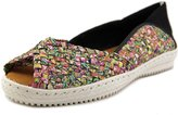 Bernie Mev. Brooke Women US 7 Multi Color Peep Toe Flats EU 38