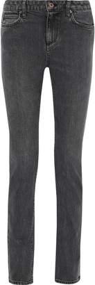 Simon Miller Gasper Faded Mid-rise Skinny Jeans