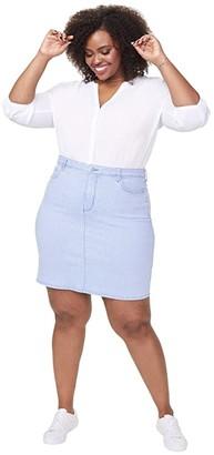 NYDJ Plus Size Plus Size Denim Skirt in Trella (Trella) Women's Skirt