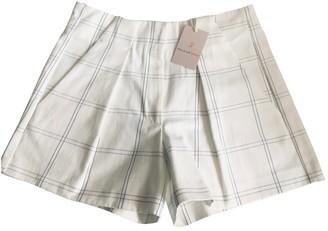 Paul & Joe Sister White Cotton - elasthane Shorts for Women