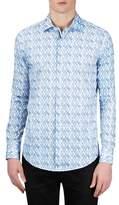 Bugatchi Men's Classic Fit Abstract Print Sport Shirt