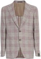 Tagliatore Linen Silk Checked Jacket