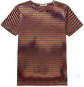 Nudie Jeans Ove Striped Organic Cotton-jersey T-shirt - Navy