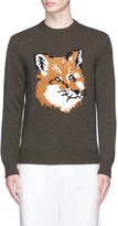 MAISON KITSUNÉ Fox intarsia lambswool sweater