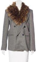Smythe Faux Fur-Trimmed Notch-Lapel Blazer