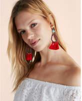 Express tassel teardrop earrings
