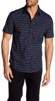 Original Penguin Partial Button Up Short Sleeve Shirt