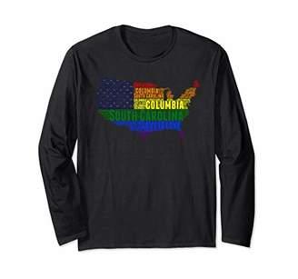 Columbia South Carolina Love Wins Equality LGBTQ Pride Long Sleeve T-Shirt