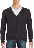 Black Brown 1826 Merino Wool Cardigan