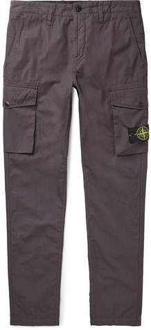 Stone Island Slim-Fit Tapered Cotton-Ripstop Cargo Trousers