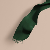 Burberry The Classic Cashmere Scarf, Green