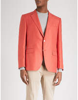 Canali Basketweave Regular-fit Wool And Silk-blend Jacket