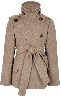 Stella McCartney Amelia Brown Wool-blend Coat