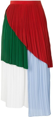 AKIRA NAKA Color-Block Pleated Skirt