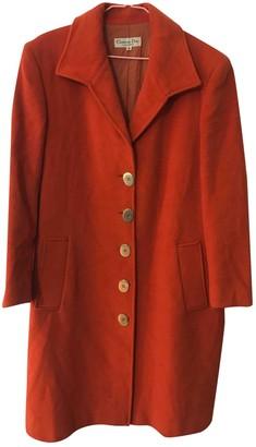 Christian Dior Orange Wool Coats