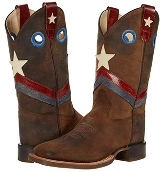 Old West Kids Boots Freedom (Toddler/Little Kid) (Brown) Boys Shoes