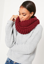 Missguided Knit Snood Burgundy