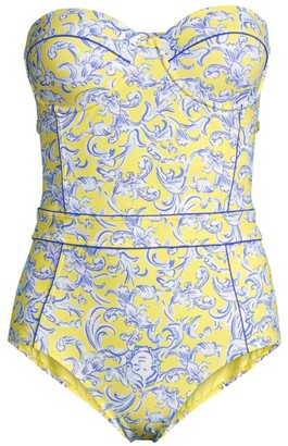 Tory Burch Printed Bustier One-Piece Swimsuit