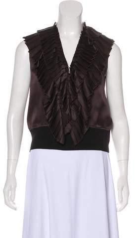 Lanvin Silk Pleated Top