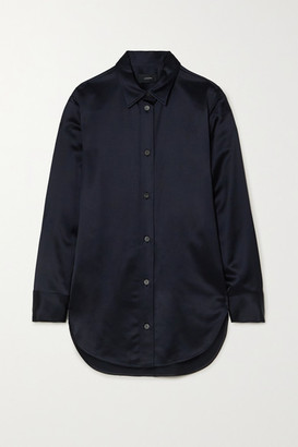 Joseph Bernel Oversized Satin Shirt - Navy