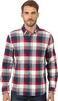 AG Adriano Goldschmied Men's Nimbus Long Sleeve Woven Shirt In Blue Red Check