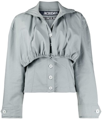 Jacquemus Layered Style Hooded Blouse