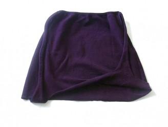 Helmut Lang Purple Cotton Skirts
