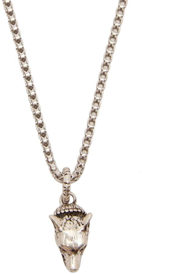 Gucci Anger Forest Wolf 925 sterling silver necklace