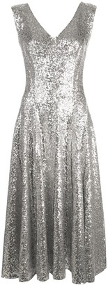 Norma Kamali Grace sequin A-line dress