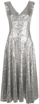 Norma Kamali Grace sequin A-line dress