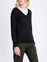 Brunello Cucinelli V-neck cashmere and silk-blend jumper