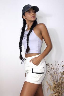 Santa Cruz UO Exclusive Summer Nylon Shorts - White UK 6 at Urban Outfitters