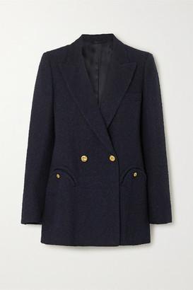 BLAZÉ MILANO Everyday Double-breasted Cotton-blend Boucle Blazer - Navy