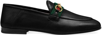 Gucci Web detail loafers