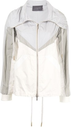 Lorena Antoniazzi Colour-Block Zipped Jacket