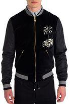 Dolce & Gabbana Palm Tree Velvet Bomber Jacket