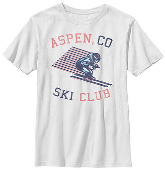 Fifth Sun Boys' Tee Shirts WHITE - White 'Aspen, CO Ski Club' Crewneck Tee - Boys